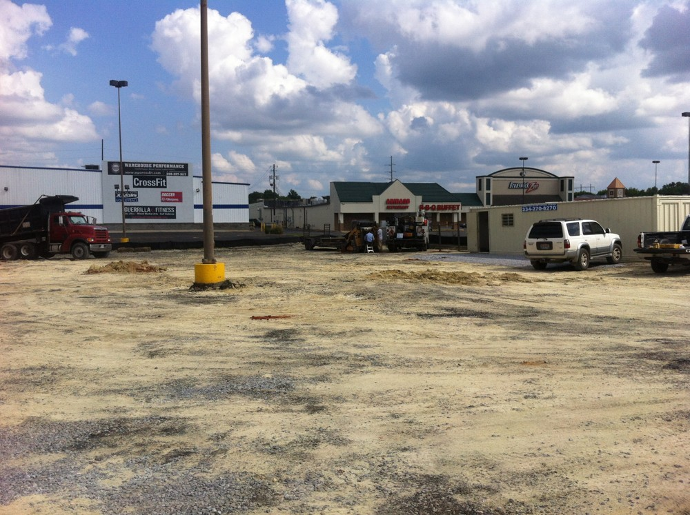 Ct hauling prepared a lot for a car wash in montgomery al for Holmes motor in montgomery al