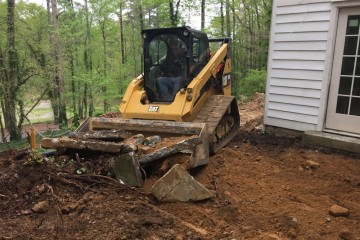 Concrete Side Walk Removed Mountain Brook, Al