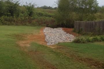 A water trench installation in Calera, Al
